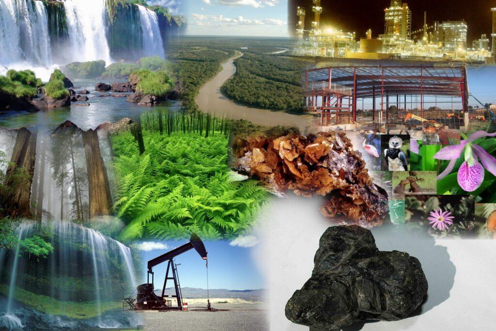 Explotación de los recursos naturales